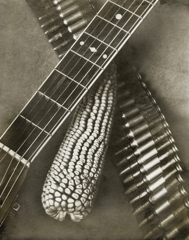 Tina Modotti. 'Bandolier, Corn and Guitar' 1927