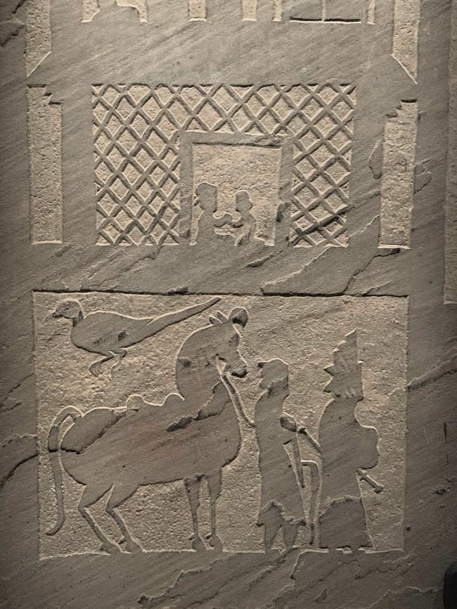 Tomb gate 画像石 Eastern Han dynasty, 25 - 220 CE
