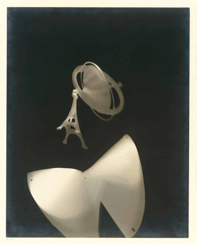 László Moholy-Nagy (Hungarian, 1895-1946) 'Photogram (photogram with Eiffel Tower)' 1925 / 1989-29