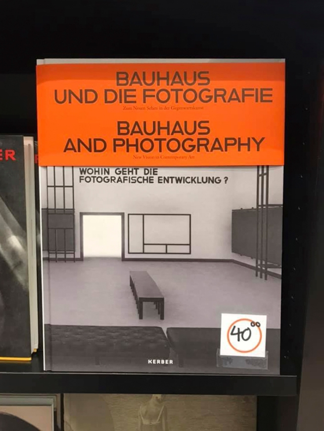 Catalogue cover from the exhibition 'Bauhaus and Photography' at the Museum für Fotografie, Berlin