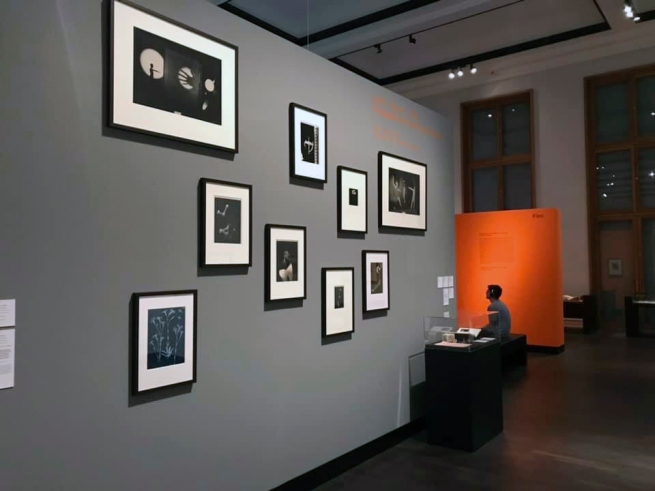 Installation view of the exhibition 'Bauhaus and Photography' at the Museum für Fotografie, Berlin