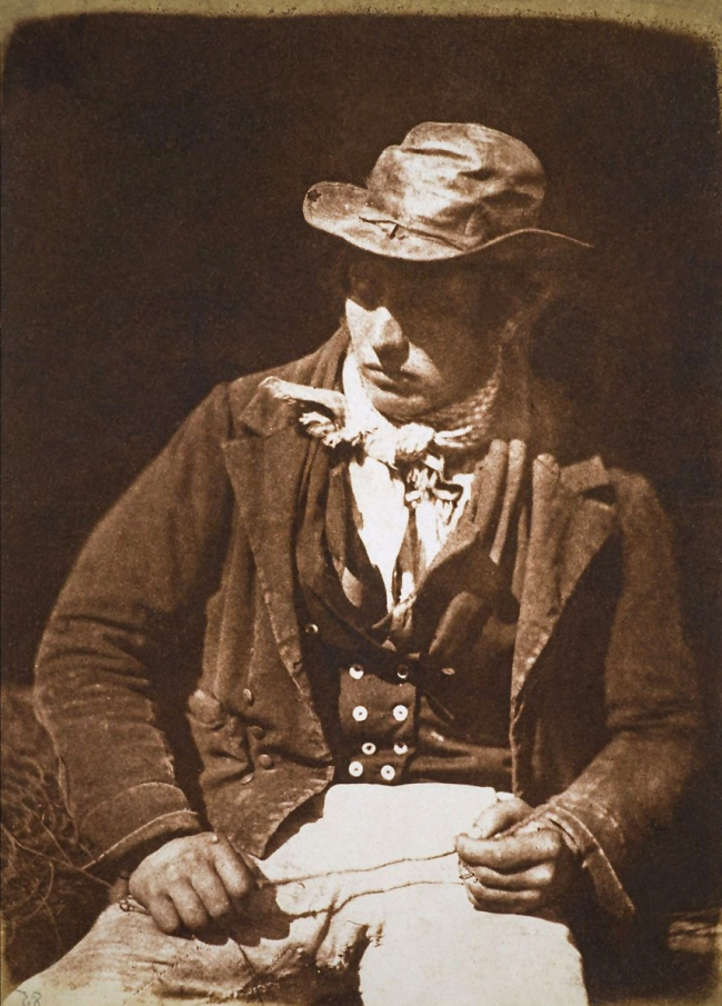 David Octavius Hill / Robert Adamson (1802-1870 / 1821-1848) 'Newhaven Fisherman'. John Henning and Alex H. Ritchie 1843