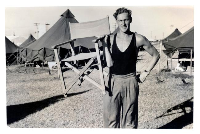 Joyce Evans(Australian, 1929-2019) 'Richard 'Dicky' Woolcott, delegate to conference, at NUAUS encampment' 1951