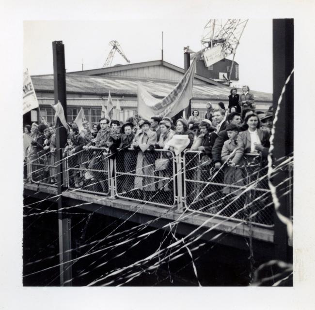 Joyce Evans(Australian, 1929-2019) 'Farewell to Delegates' 1951