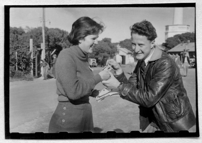 Joyce Evans(Australian, 1929-2019) 'Jenny Lloyd and Clyde Holding' 1951