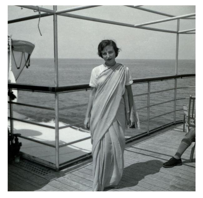 Joyce Evans(Australian, 1929-2019) 'Joyce onboard ship' 1951