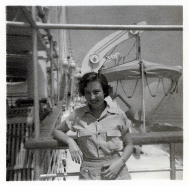 Joyce Evans(Australian, 1929-2019) 'Joyce with lifeboat' 1951