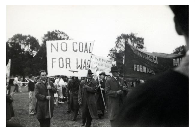 Joyce Evans(Australian, 1929-2019) 'No Coal for War, May Day March' 1951