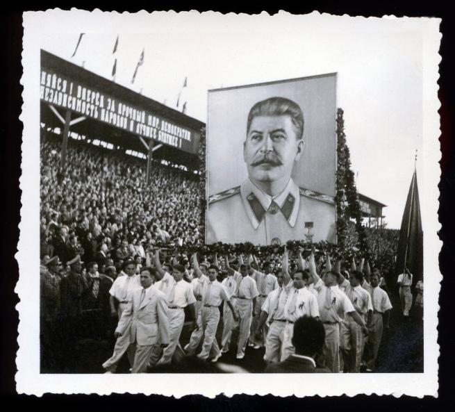 Joyce Evans(Australian, 1929-2019) 'Stalin banner, Budapest' 1949