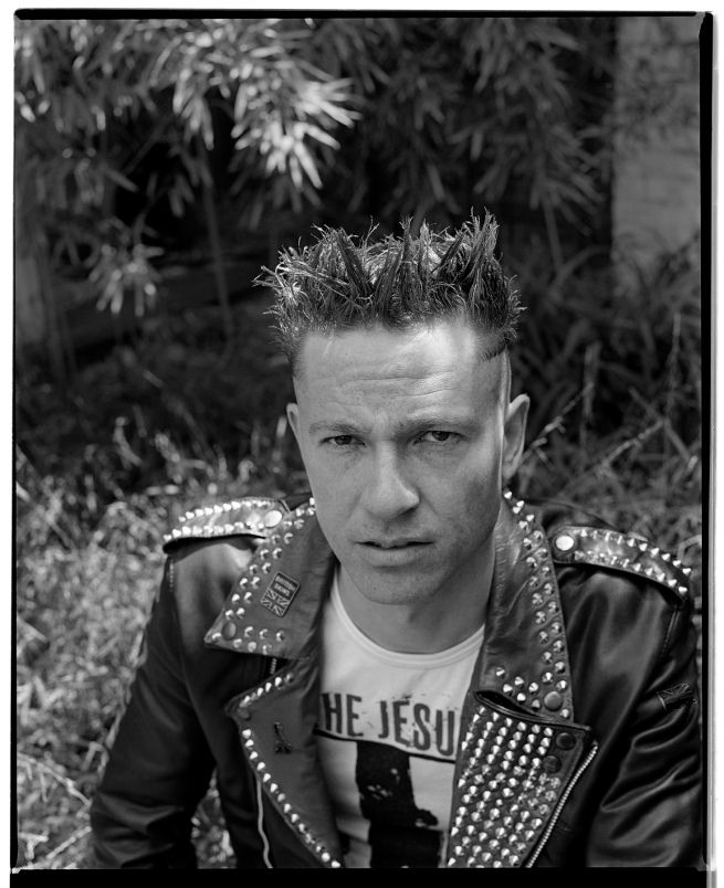 Marcus Bunyan (Australian, b. 1958) 'Self-portrait with punk jacket and The Jesus and Mary Chain T-shirt' 1992