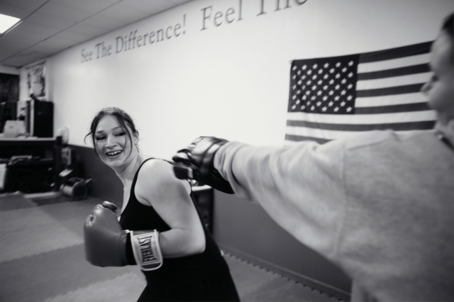 'Donna Ferrato (American, born 1949) Sarah Augusta Learning Self Defense' 2013