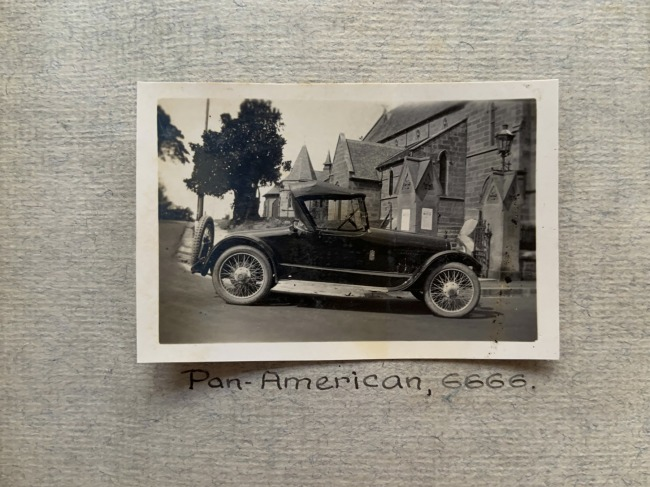 """Pan-American, 6666,"" 1923 in John ""Jack"" Riverstone Faviell 1922-1933 photo album"