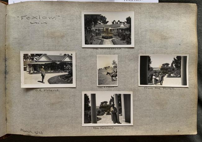 """Foxlow,"" March, 1923 in John ""Jack"" Riverstone Faviell 1922-1933 photo album"