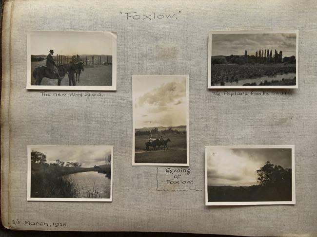 """Foxlow,"" 3/5 March, 1923 in John ""Jack"" Riverstone Faviell 1922-1933 photo album"