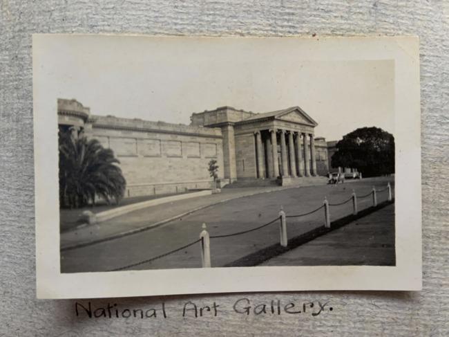"""National Art Gallery,"" Sydney, 1923 in John ""Jack"" Riverstone Faviell 1922-1933 photo album"