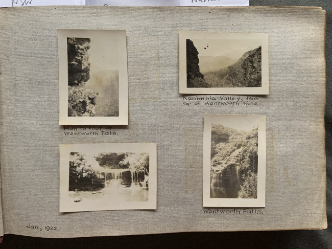 """Blue Mountains, N.S.W,"" January 1922 in John ""Jack"" Riverstone Faviell 1922-1933 photo album"