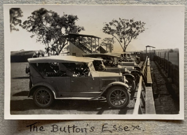 """""""The Button's Essex,"""" May, 1923 in John """"Jack"""" Riverstone Faviell 1922-1933 photo album"""