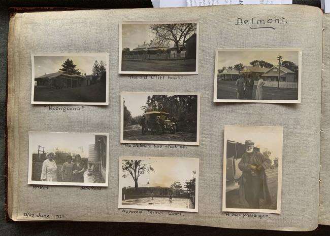 """Belmont,"" 23/25 June, 1923 in John ""Jack"" Riverstone Faviell 1922-1933 photo album"