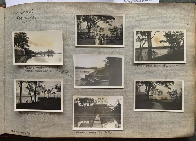 """""Weroona"", Belmont,"" 23/25 June, 1923 in John ""Jack"" Riverstone Faviell 1922-1933 photo album"