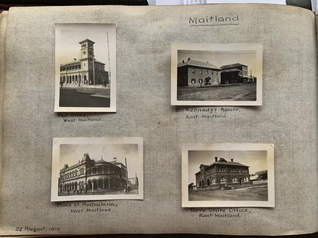 """Maitland,"" 25 August, 1923 in John ""Jack"" Riverstone Faviell 1922-1933 photo album"