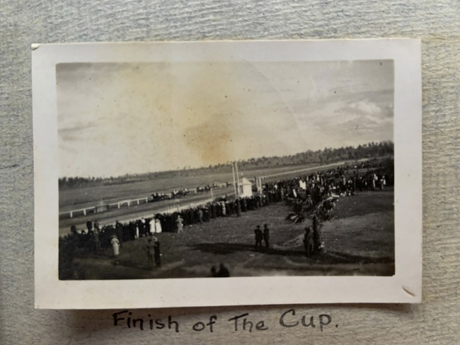 """""""Finish of The Cup,"""" Spring, 1923 in John """"Jack"""" Riverstone Faviell 1922-1933 photo album"""