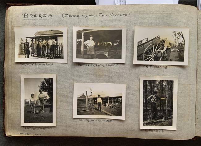 """Breeza (Doona Cyprus Pine Venture),"" 13th September, 1923 in John ""Jack"" Riverstone Faviell 1922-1933 photo album"