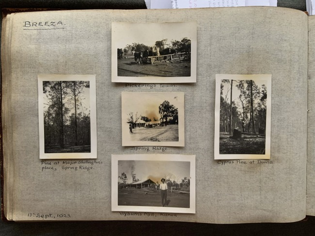 """Breeza,"" 13th September, 1923 in John ""Jack"" Riverstone Faviell 1922-1933 photo album"