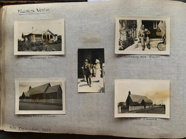 """Moss Vale,"" 8/9 December, 1923 in John ""Jack"" Riverstone Faviell 1922-1933 photo album"
