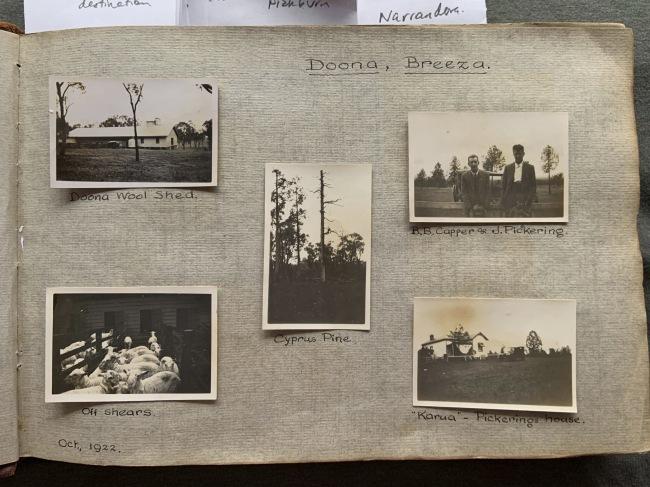 """Doona, Breeza,"" October 1922 in John ""Jack"" Riverstone Faviell 1922-1933 photo album"