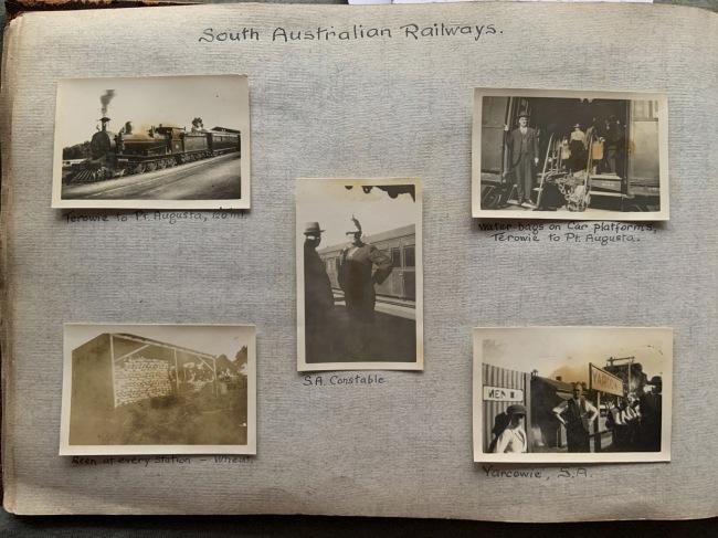 """South Australian Railways,"" in John ""Jack"" Riverstone Faviell 1922-1933 photo album"