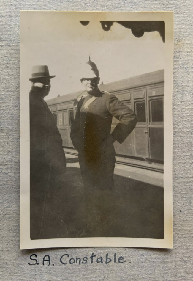 """""""S.A. Constable,"""" 1923 in John """"Jack"""" Riverstone Faviell 1922-1933 photo album"""