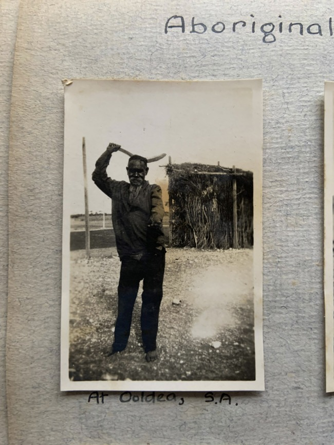 """""""At Ooldea, S.A."""" 1923 in John """"Jack"""" Riverstone Faviell 1922-1933 photo album"""