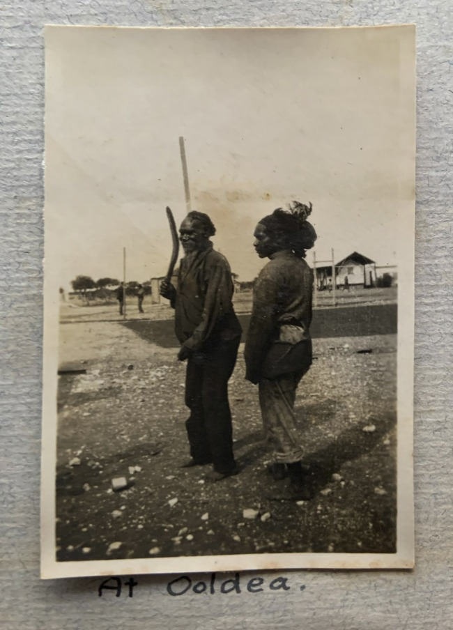 """At Ooldea,"" 1923 in John ""Jack"" Riverstone Faviell 1922-1933 photo album"