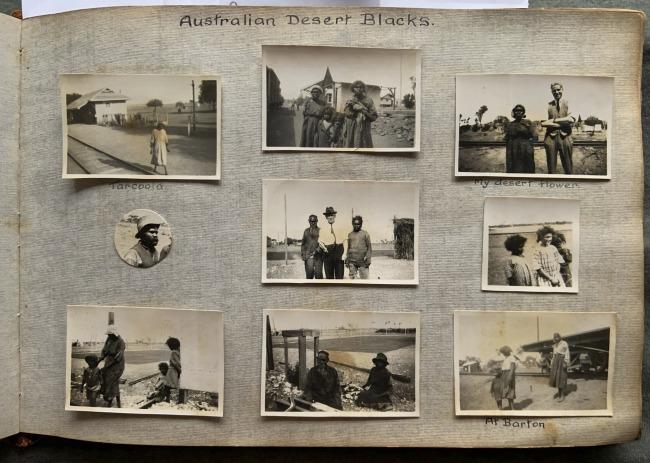 """""""Australian Desert Blacks,"""" 1923 in John """"Jack"""" Riverstone Faviell 1922-1933 photo album"""