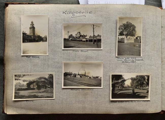 """Kalgoorlie,"" 1923 in John ""Jack"" Riverstone Faviell 1922-1933 photo album"