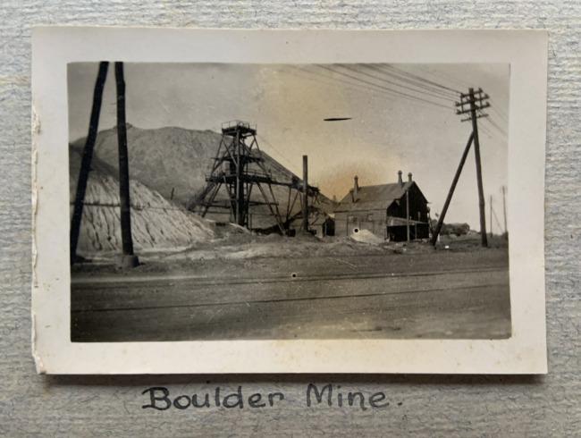 """Boulder Mine,"" 1923 in John ""Jack"" Riverstone Faviell 1922-1933 photo album"