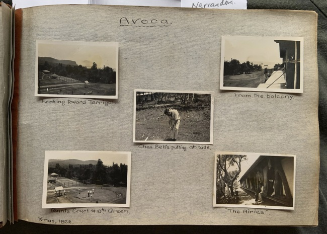 """Avoca,"" Xmas, 1922 in John ""Jack"" Riverstone Faviell 1922-1933 photo album"