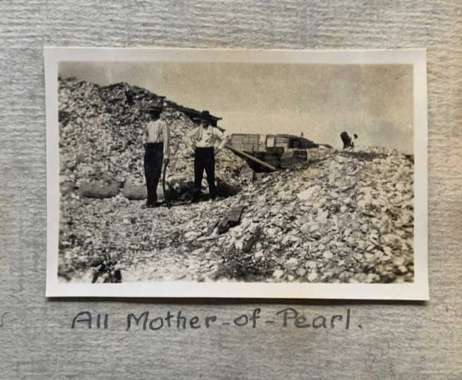 """""""All Mother-of-Pearl,"""" 1923 in John """"Jack"""" Riverstone Faviell 1922-1933 photo album"""