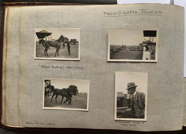 """Newcastle Races,"" New Year, 1923 in John ""Jack"" Riverstone Faviell 1922-1933 photo album"