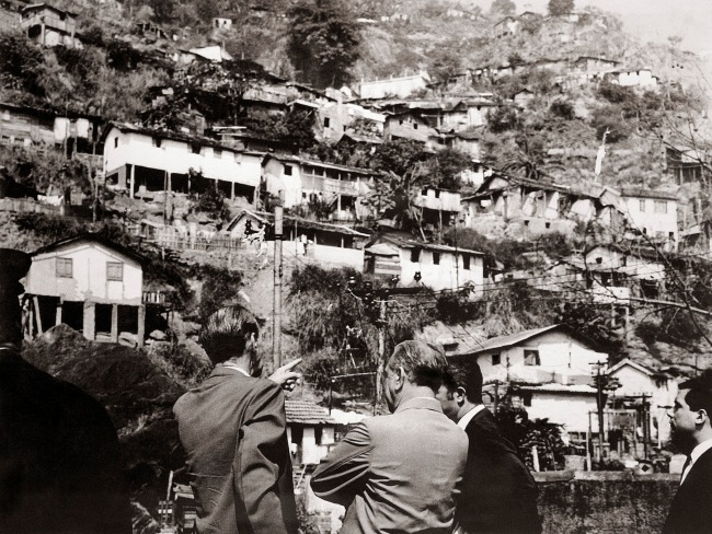 Unknown maker. 'Untitled (Four Officials Inspect Catacumba Favela)' August 7, 1967