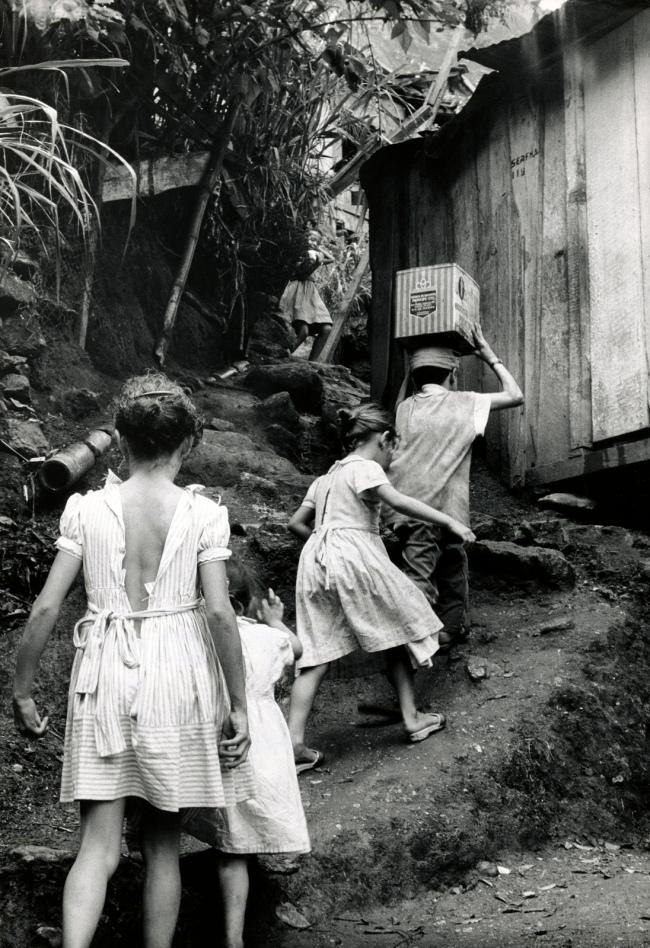 Gordon Parks (American, 1912-2006) 'Untitled (The da Silva Children Climbing the Hillside), Rio de Janeiro, Brazil' 1961