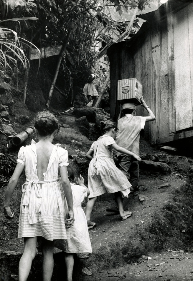 Gordon Parks (American, 1912-2006) 'Untitled (The da Silva Children Climbing the Hillside), Rio de Janeiro, Brazil' 1961