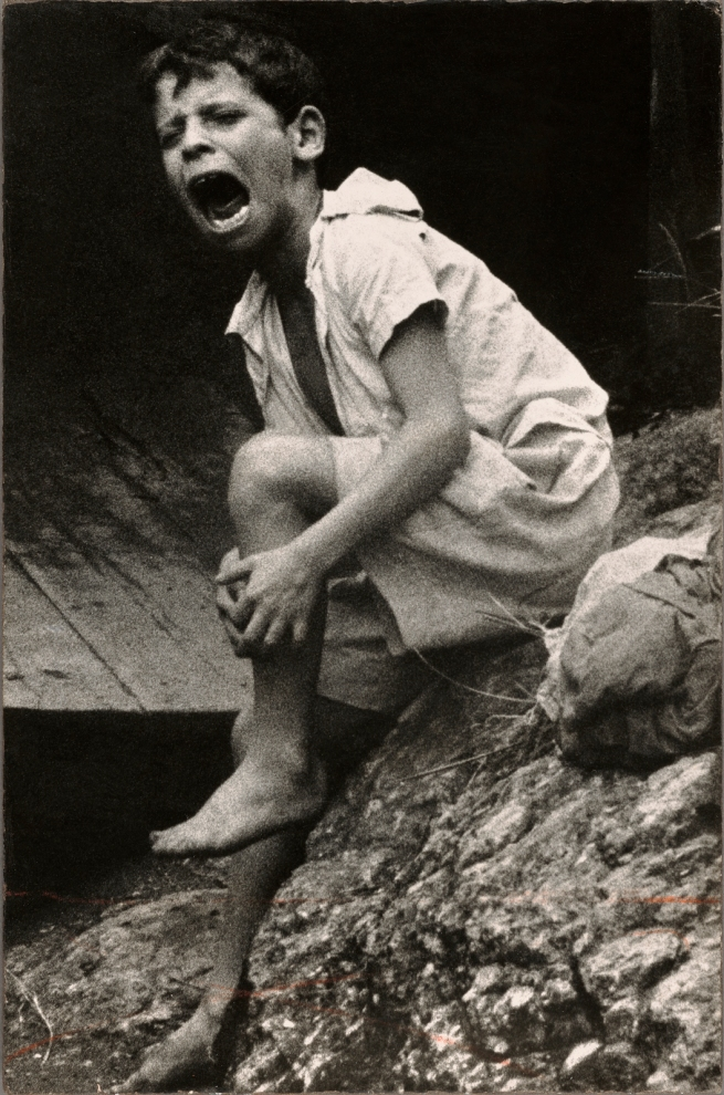 Gordon Parks (American, 1912-2006) 'Mário da Silva, Crying after Being Bitten by Dog, Rio de Janeiro, Brazil' Negative 1961, printed later