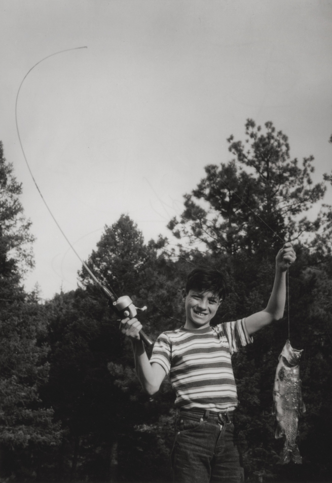 José Gonçalves (American, born 1927) 'Flávio Catches His First Fish, Denver, Colorado' Negative about 1962, print about 1977