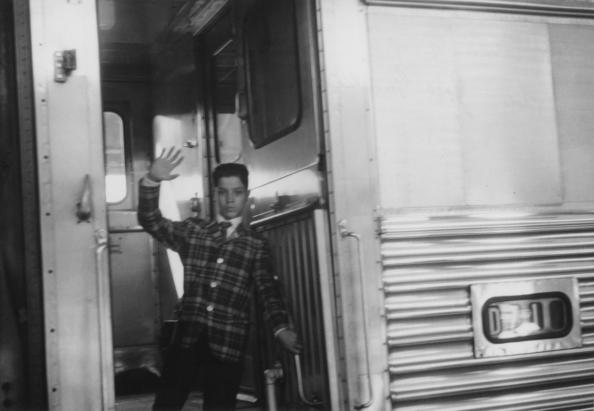 José Gonçalves (American, born 1927) 'Flávio Waves Goodbye to the Gonçalves Family from the Train That Will Take Him to New York, Denver, Colorado' Negative July 27, 1963, print about 1977