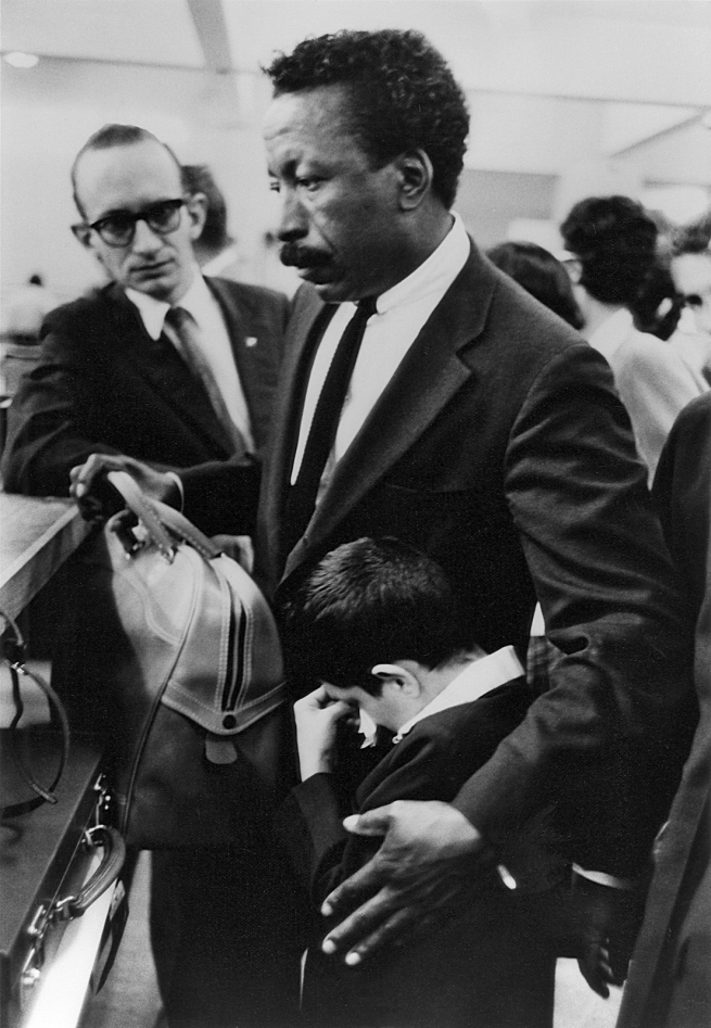 Paulo Muniz (Brazilian, 1918-1994) 'Untitled (Gordon Parks and Flávio da Silva at Airport, Soon to Fly to United States), Rio de Janeiro, Brazil' Negative July 5, 1961, printed later
