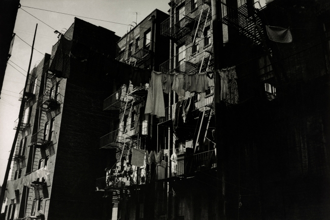 Henri Ballot (French / Brazilian, 1921-1997) 'Apartment Building Where the Gonzalez Family lives, Manhattan, New York' 1961