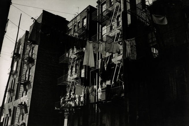 Henri Ballot (French / Brazilian, 1921-1997) 'Apartment Building Where the Gonzalez Family lives, Manhattan, New York' 1961