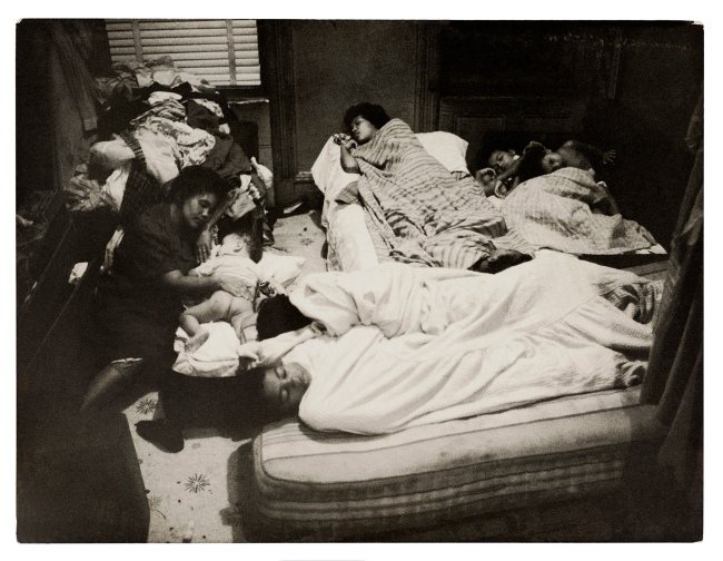 Henri Ballot (French / Brazilian, 1921-1997) 'Bedroom in the Gonzalez Family Apartment, Manhattan, New York' 1961