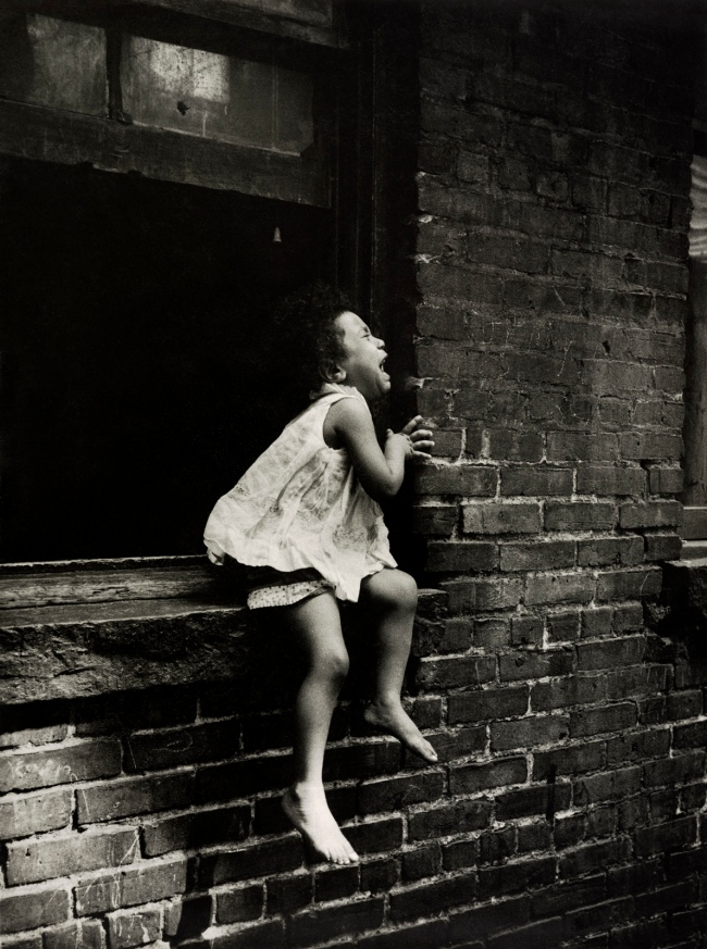 Henri Ballot (French / Brazilian, 1921-1997) 'Child Crying at the Window, Manhattan, New York' 1961